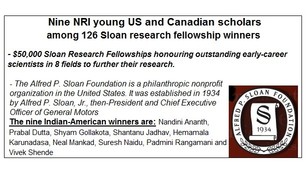 Sloan Foundation 9 NRI AWARDED