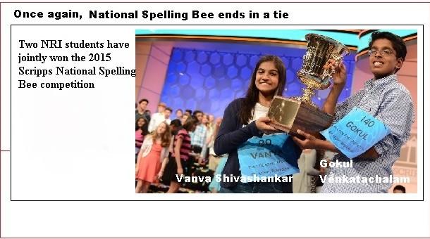 TWO NRIs Won Spelling Bee