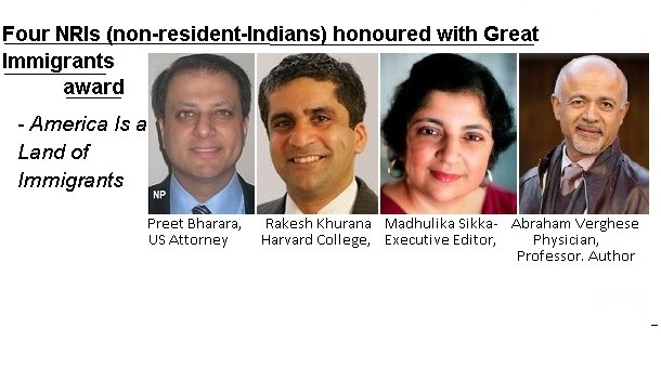 Four NRIs honoured
