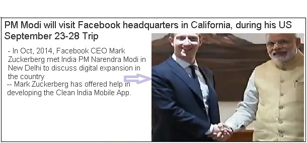 Modi to visit Facebook HQ